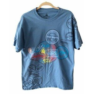 Disney Parks T Shirt Blue Size Extra Large